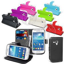 Book Wallet Leather Case Cover For Samsung Galaxy Trend Plus