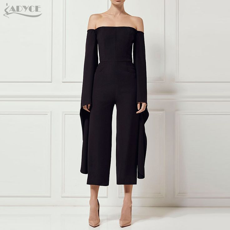 Cheap long jumpsuit women, Buy Quality long jumpsuit directly from China jumpsuit style Suppliers: Adyce 2017 New Style Long Jumpsuits Woman Sexy Strapless Bodysuit Long Sleeve Black Celebrity Party Long Jumpsuit Wholesale
