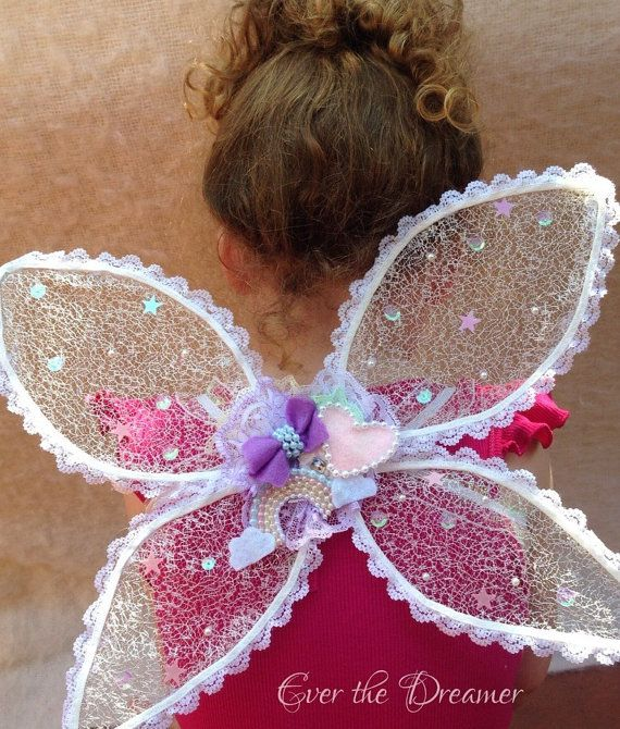 Over the Rainbow Fairy Wings rainbow sparkle lace by EverTheDream