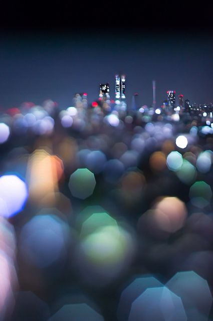 Shinjuku park tower, with bokeh effect you can learn to do at http://trick-photography.org/trick-photography-book-review/