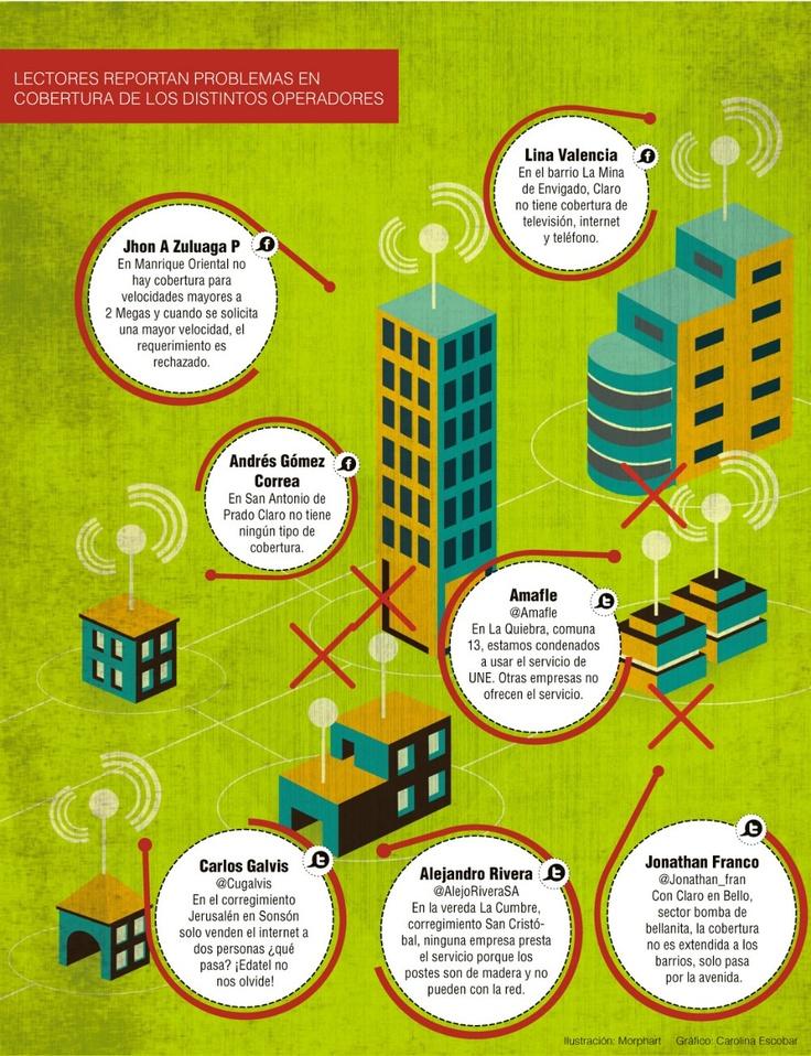 Denuncian falta de cobertura de banda ancha en algunos barrios de Medellín. Publicado: diciembre 3 de 2012.