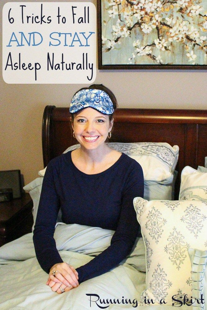 How to Fall Asleep and Stay Asleep Naturally! Sleep tips to help insomnia and other sleep related issues.  All simple remedies to get good, healthy beauty sleep. Includes how I tranformed my sleeping habits- you can too!| Running in a Skirt