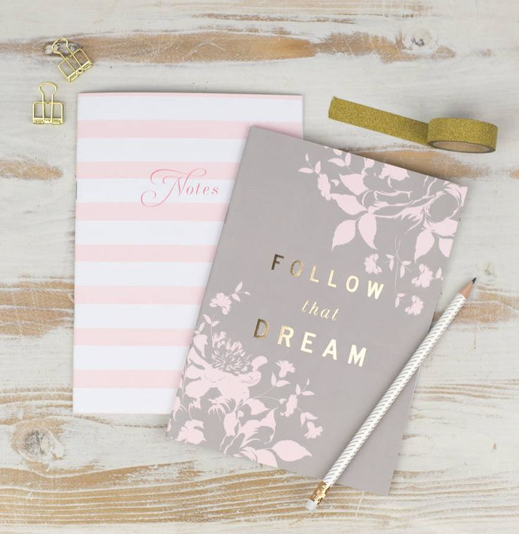 'Follow That Dream' Luxury Foiled Notebook Duo