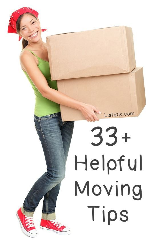 Lots of clever moving and packing tips!