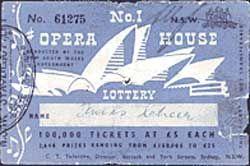 Sydney Opera House Lottery Ticket No.1