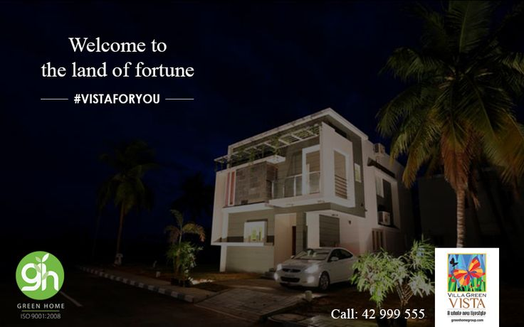 Welcome to the land of fortune at Green Home Group.\  http://bit.ly/GreenHomeVillagreenVista | 📞 044-42999555 #GreenHome #GreenHomeGroup #VistaForYou #EcoFriendly #LifeStyle