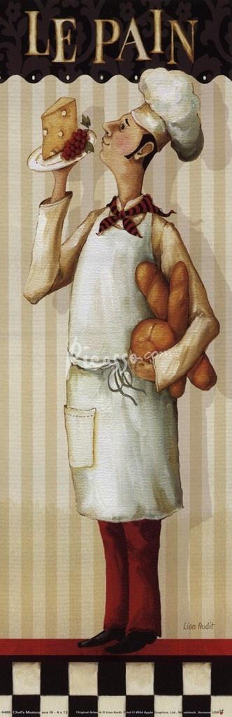 French Bistro Chef Art ~ ☮レ o √乇 ❥ L❃ve ☮~ღ~*~*✿⊱☮