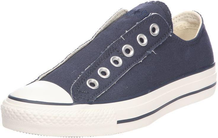 converse slip on blu navy