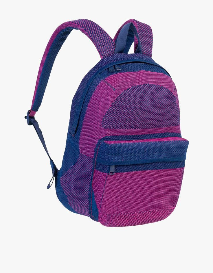Ultra modern backpack from Herschel Bad Hills in Pink Yarrow. Neoprene padded 15-inch laptop sleeve with organizers. Dual-density EVA foam strap and back padding with air mesh membrane. Icon pull-tab detailed zippers. Adjustable seatbelt webbing straps an