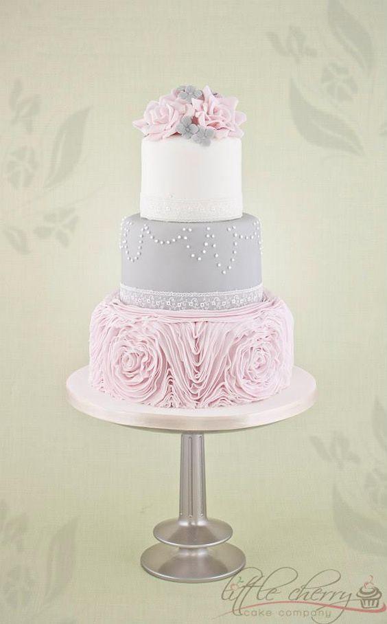 Best 20 Pink and grey wedding cake ideas on Pinterest Pink grey