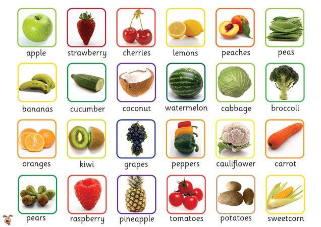 Teacher's Pet - Fruit & Veg Word Mat - FREE Classroom Display Resource - EYFS, KS1, KS2, fruits, vegetables, wordmat, healthy, food, eating,...