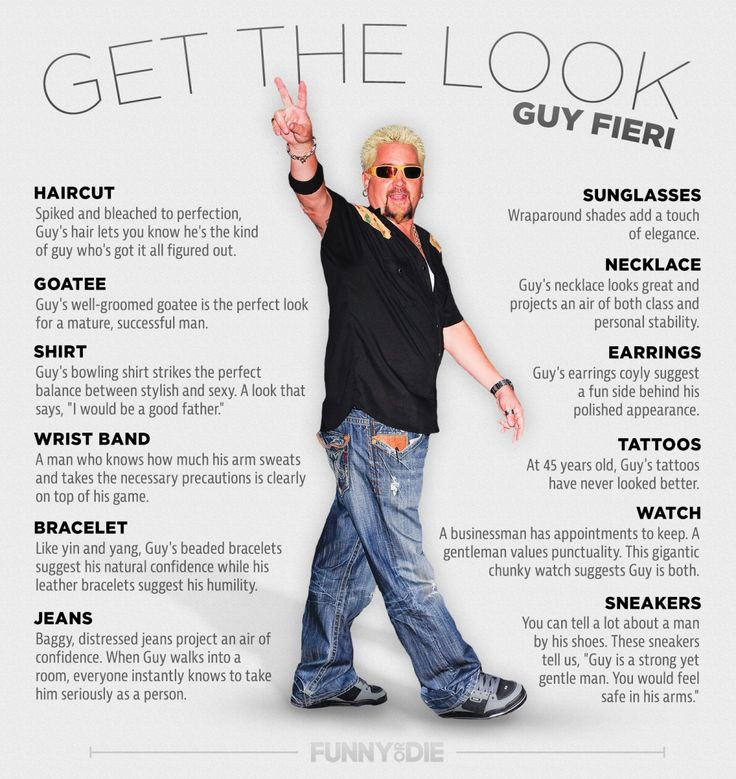 Guide to Looking Like Food Network's Guy Fieri!