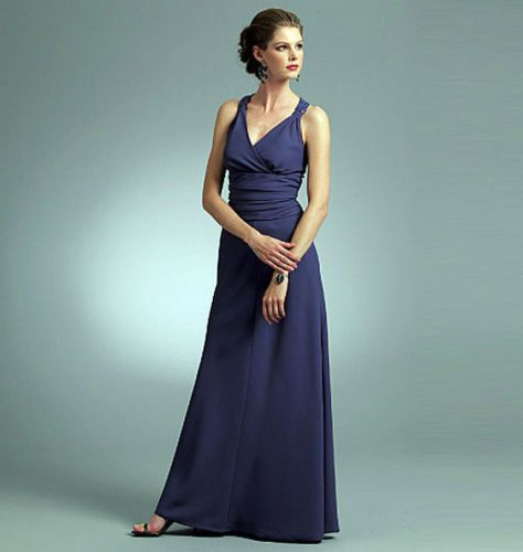From UK Sewing Pattern Dress Evening Wedding Vogue 8-14