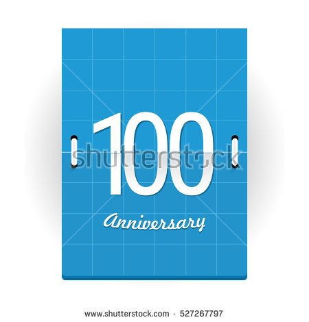 100 Years Anniversary Logo Designed like Flip Calendar