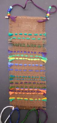 Panther's Palette: 3rd Grade: Burlap Weavings