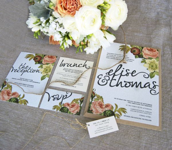 Wedding Suite Design by Etch Design Group, via Behance