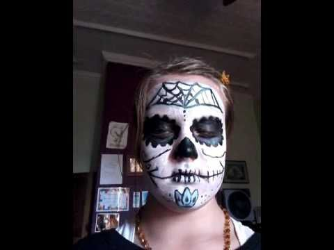 Samhain face paint - YouTube