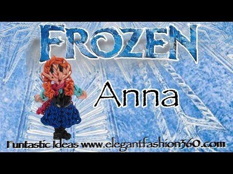 Rainbow Loom Princess Anna (Frozen) Figure/Charm - How to - http://rainbowloomsale.com/rainbow-loom-princess-anna-frozen-figurecharm-how-to/