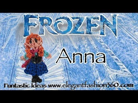 Rainbow Loom Princess Anna (Frozen) Figure/Charm - How to - YouTube