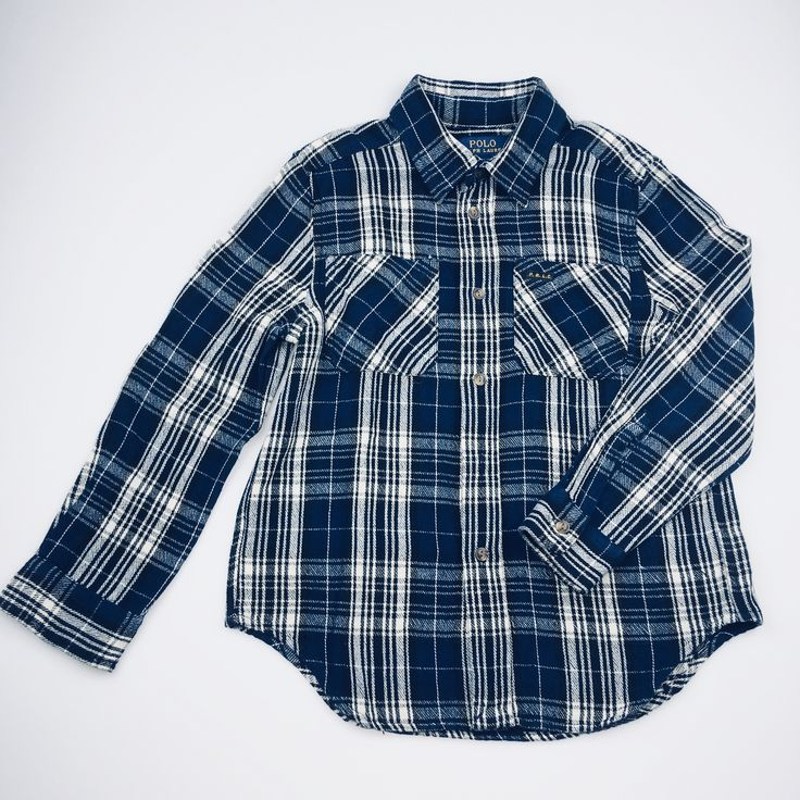 POLO by RALPH LAUREN, checked, brushed-cotton shirt, excellent pre-loved condition (EUC), boy's size 6, $29
