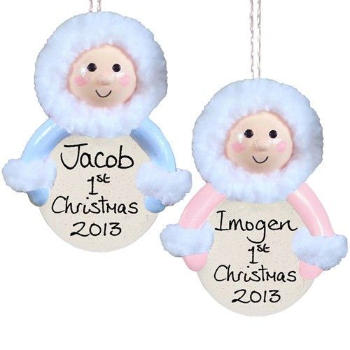 Personalised Handmade Baby in Snowsuit Ornament for Kids  from Personalised Gifts Shop - ONLY £9.99
