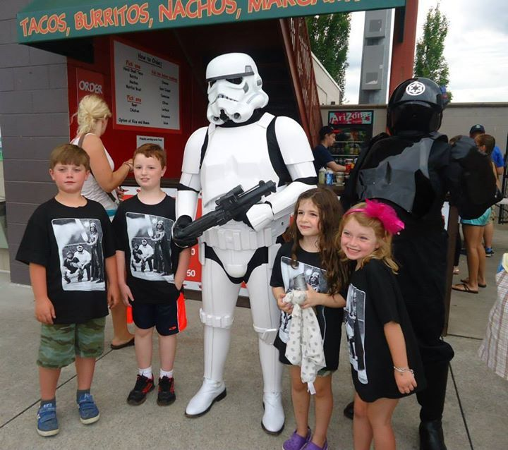 Photo from Tri-City ValleyCats: Star Wars Night 07/19/2014 at https://www.facebook.com/media/set/?set=a.816580688361588.1073741898.100000289924699&type=1&l=0290c7ded9.