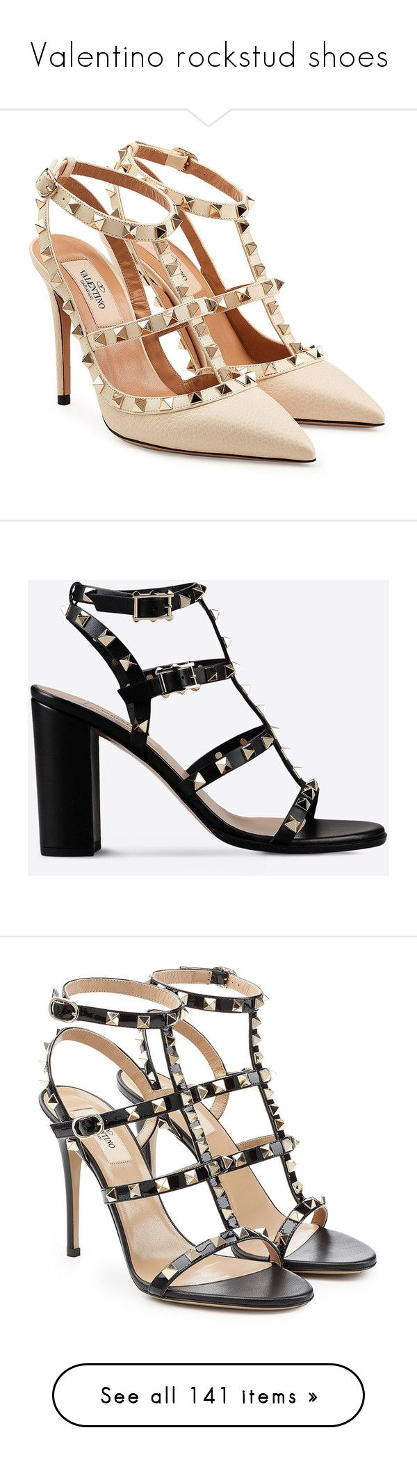 """Valentino rockstud shoes"" by huntress-383 ❤ liked on Polyvore featuring shoes, pumps, heels, valentino, beige, valentino pumps, beige leather pumps, leather shoes, leather footwear and real leather shoes"