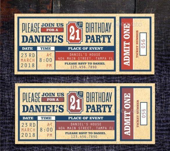 40+ Ticket Invitation Templates | PSD Invitations | Free & Premium ...