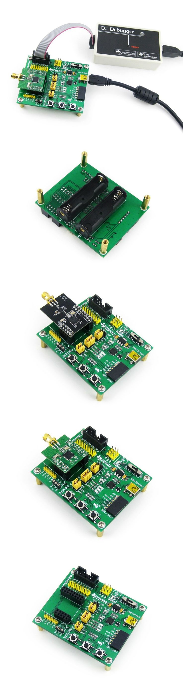 ZB502 ZigBee Wireless Expansion Motherboard for Connecting Zigbee Module CC2530 &Accessories with CP2102 on Board  for Debugging