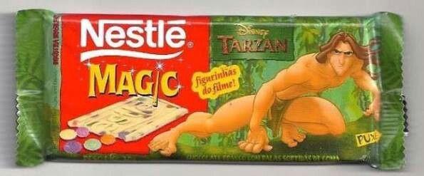 Poucos conheceram a barra de chocolate do Tarzan...😋🍫