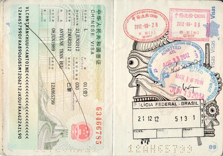 Passport Doodles by Léonard Combier – iGNANT.de