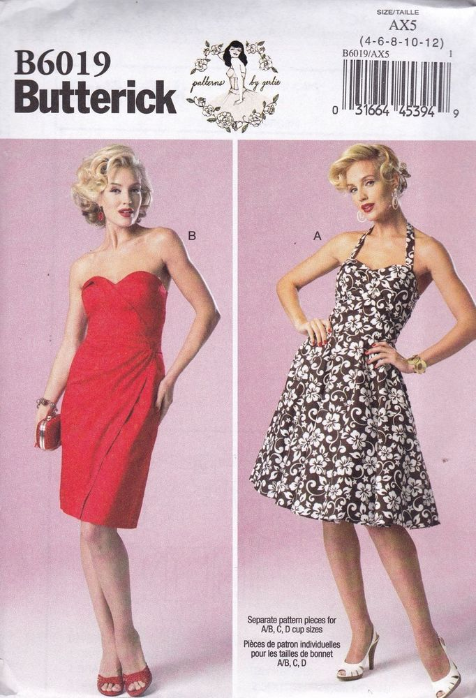 Butterick 6019 Patterns by Gertie 50s Summer Dress Vintage Style NEW (Uncut and Brand New)   Was one of the patterns that my husband picked up in the wrong size. $2 plus shipping or swap