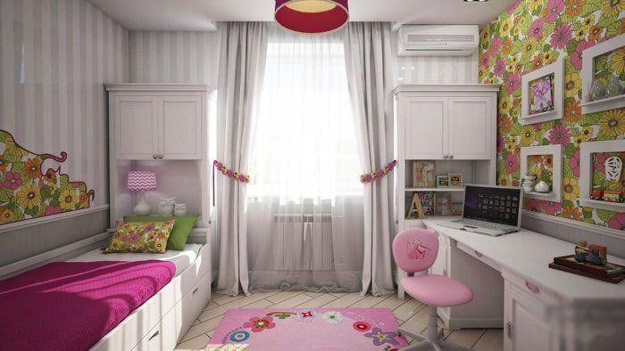 Дизайн детской 10 кв. м. фото