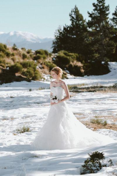 Une inspiration romance en montagne pour un mariage en hiver Image: 15