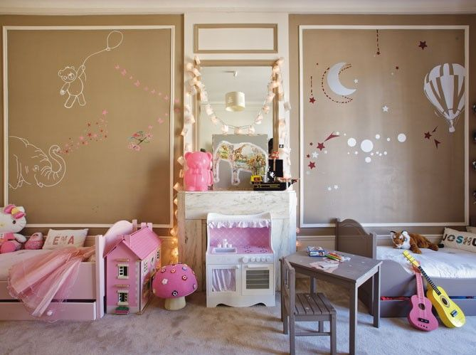 Shared bedroom for twins. Boy & Girl.Cute