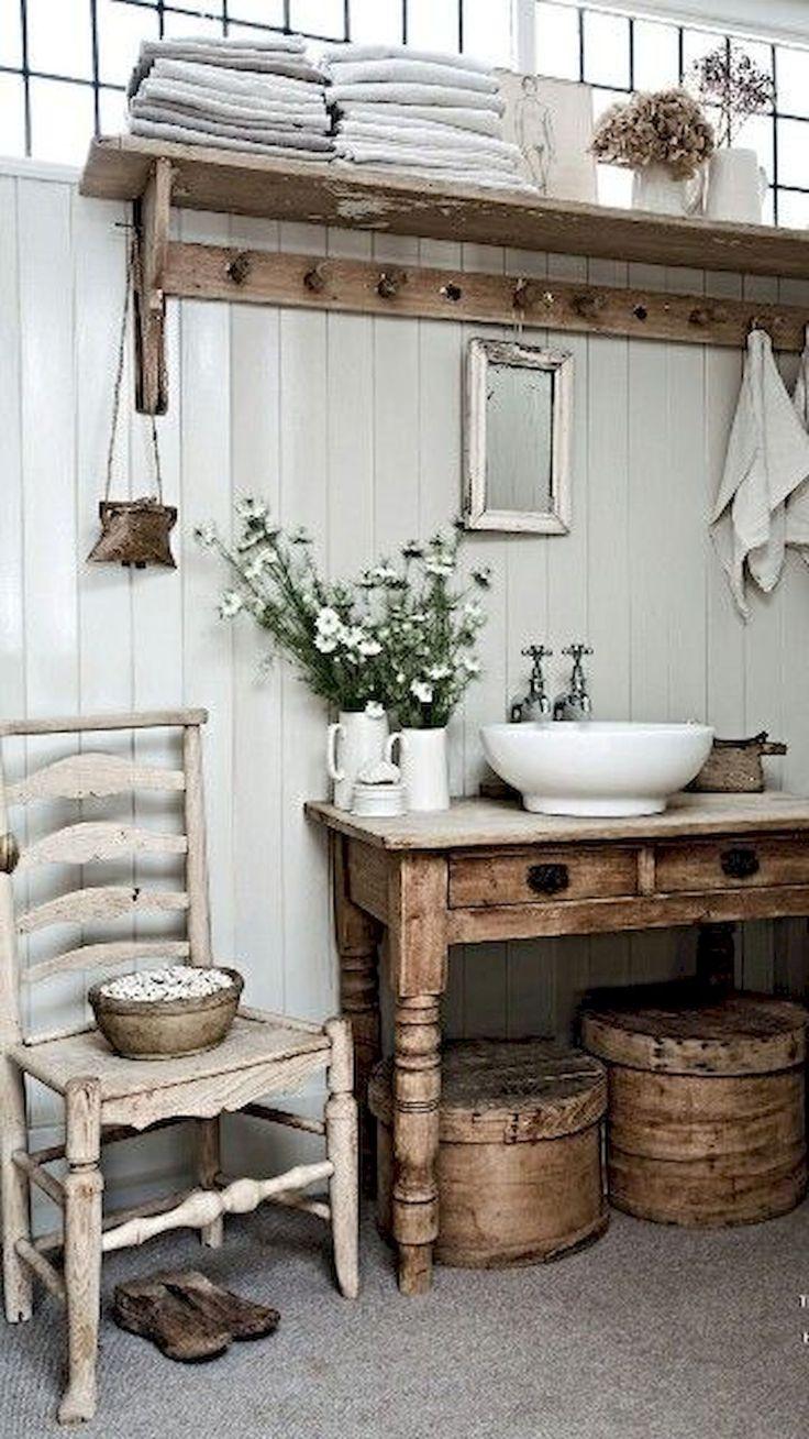 Farmhouse Bathroom Makeup Vanity