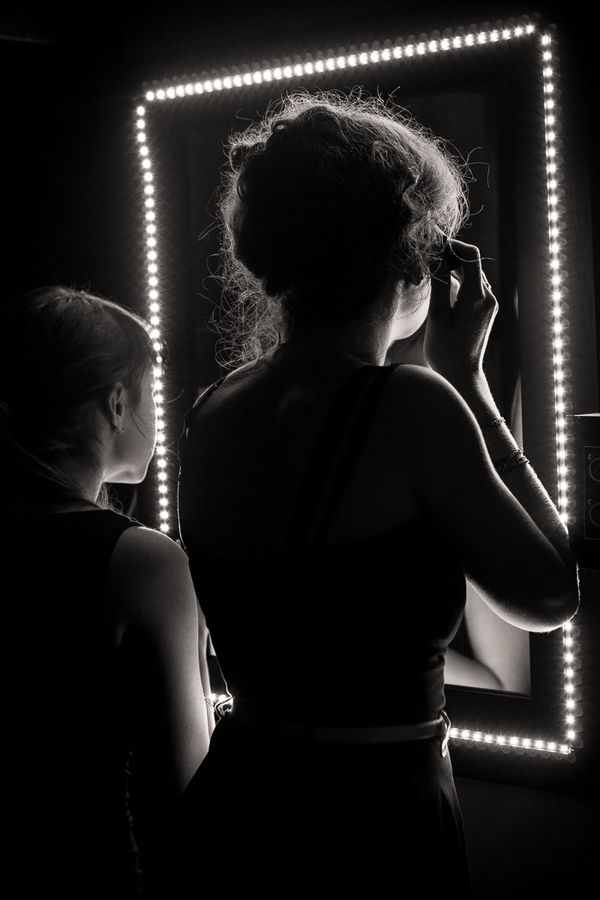"""A moment before getting on stage"" (2012), by Guy Prives"