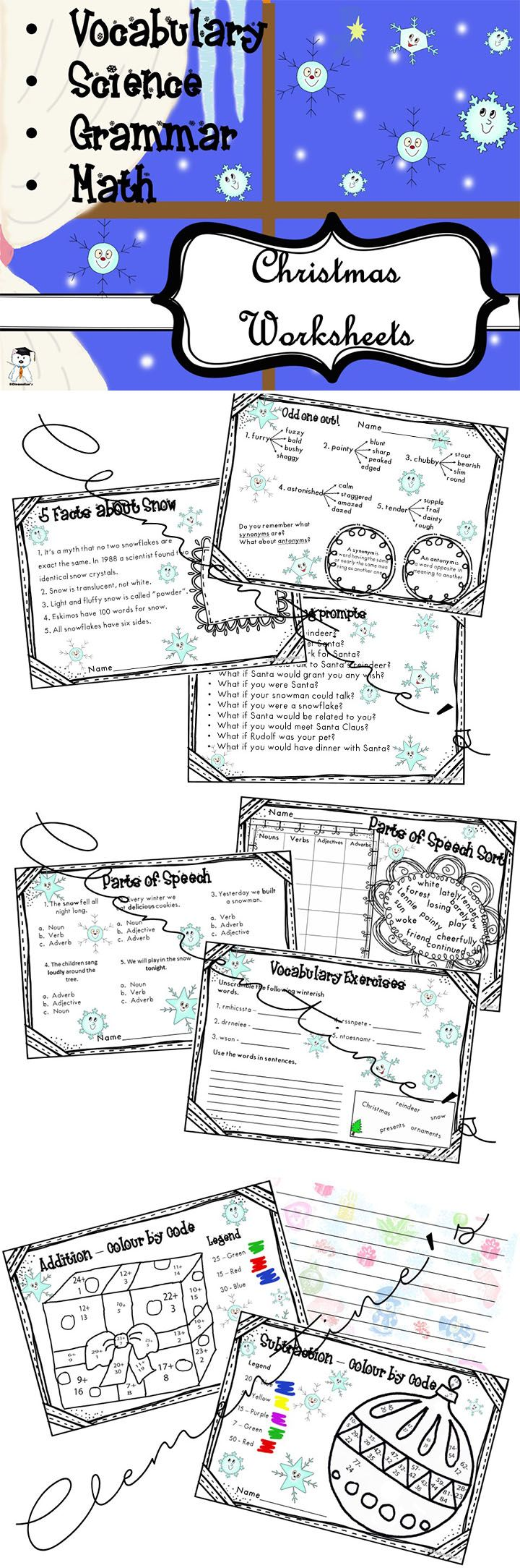 worksheet English Language Learners Worksheets 109 best my store images on pinterest teaching resources winter worksheets vocabulary grammar math writing prompts dollar deal english language learners