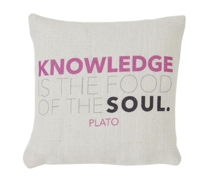 Knowledge is the food of the soul - Plato