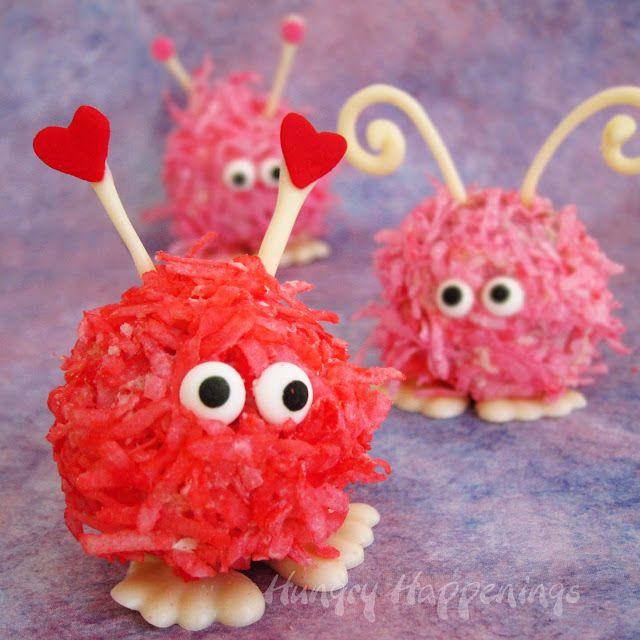 Valentine's Day Warm Fuzzy Cake Balls and Cupcakes ~ warm Fuzzy Cake Balls plus a printable wrapper to make warm fuzzy cupcakes too