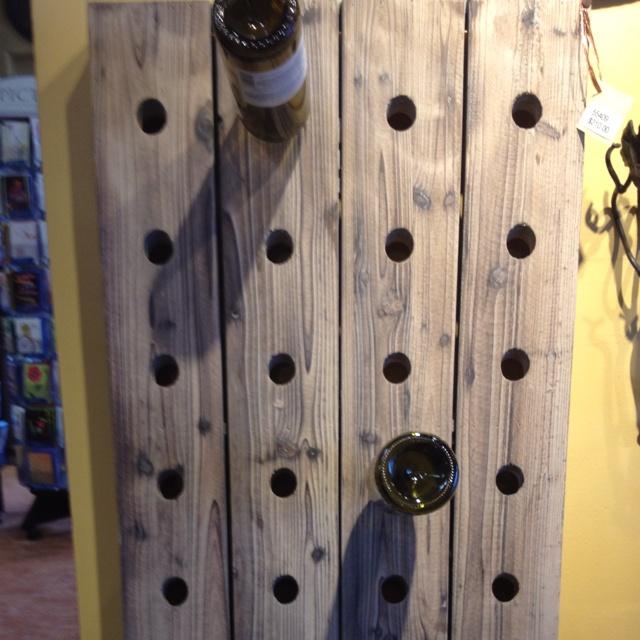 Barn wood wine rack my home pinterest woods barn for Pottery barn wine rack wood