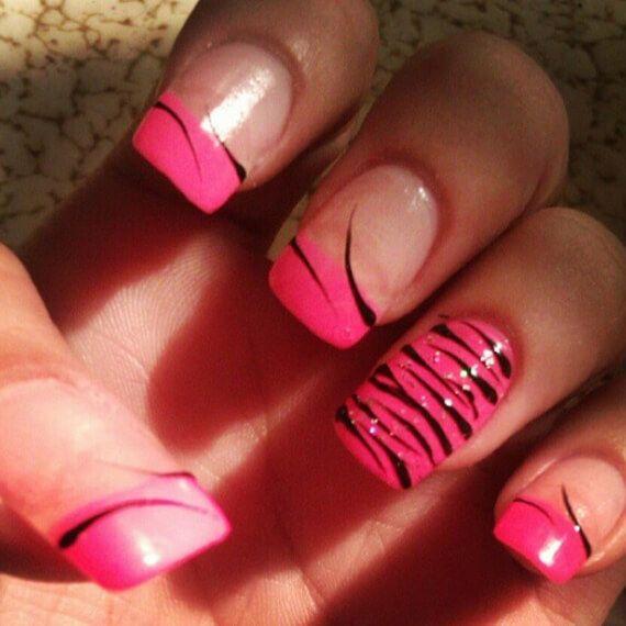 Fotos de uñas pintadas color rosa - 50 ejemplos - Pink Nails | Decoración de Uñas - Nail Art - Uñas decoradas