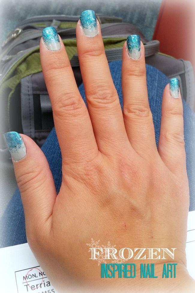 Disney's Frozen Movie inspired nail art design #nailart