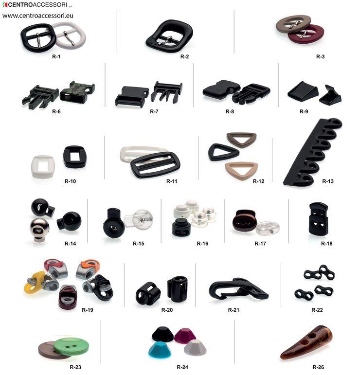 Articoli in nylon, resina e gomma, esempi. Articles in nylon, resin and rubber, examples. #CentroAccessori