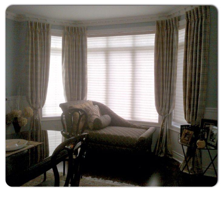 Beautiful custom silk panels make this room elegant and inviting
