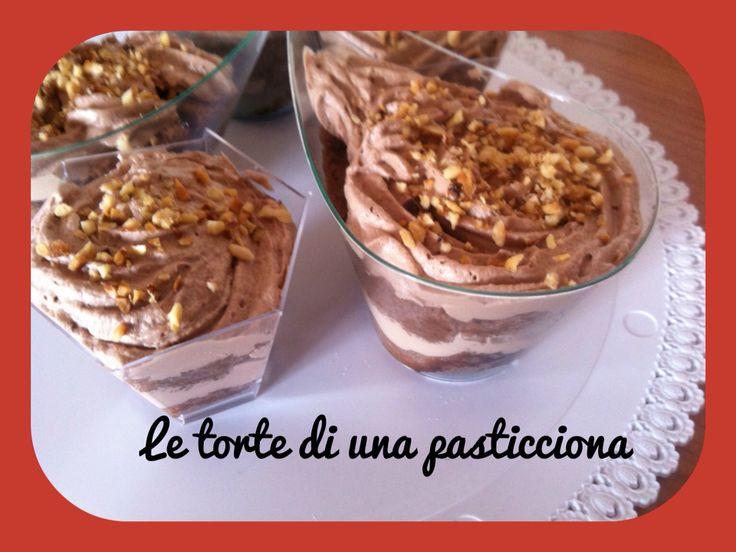 Morettini monoporzione con granella di nocciole e bagna al maraschino!!