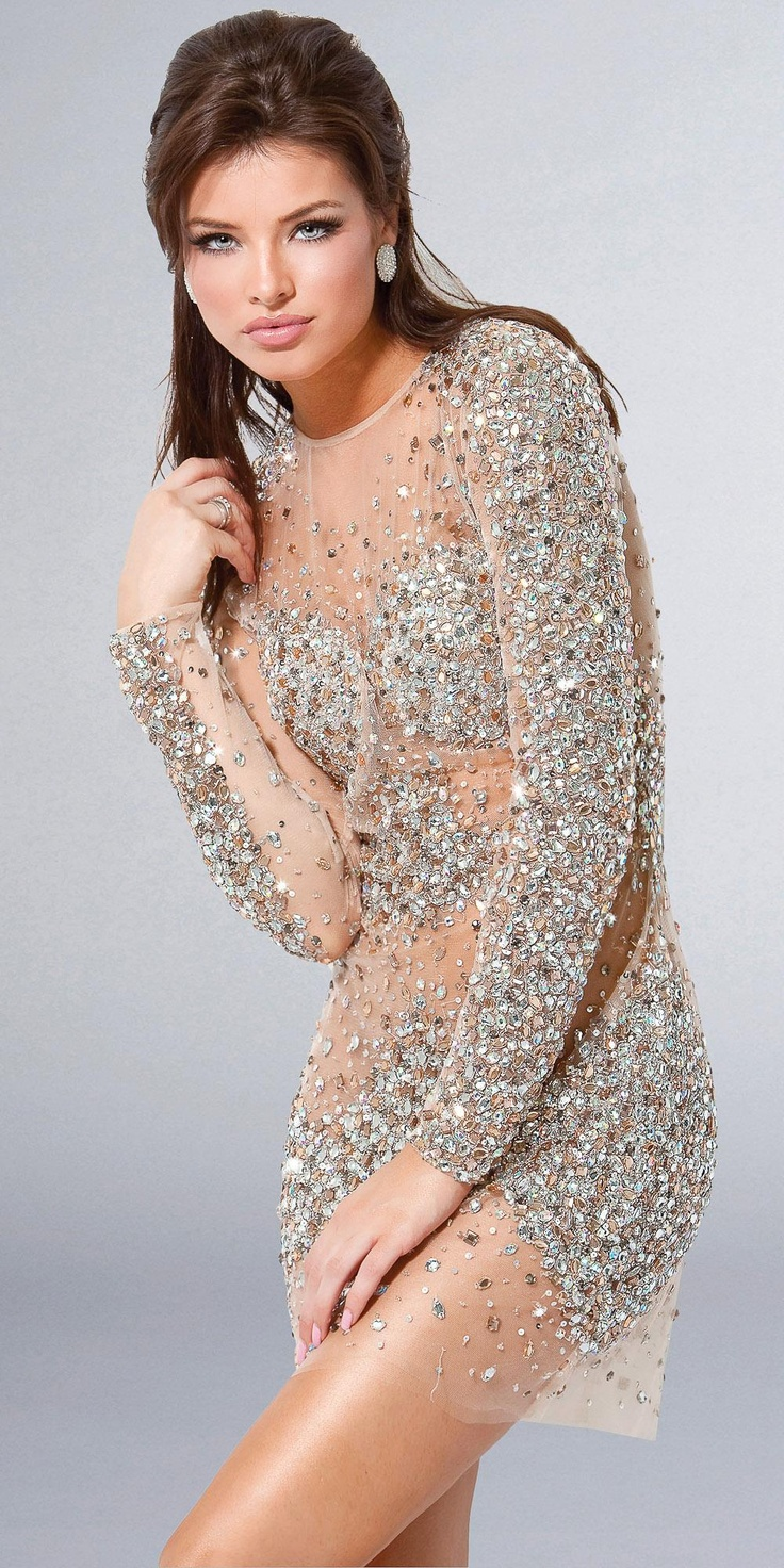 sheer sequin dress - pretty sure I would sing Britney Spears ...