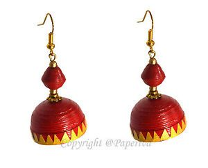 Traditional Quilling Jhumkas Earrings   Paper Quilled Jewelry