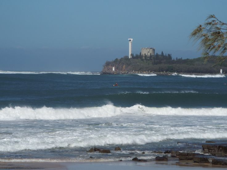 Wave action around the river mouth and Point Cartwright is unusual and was impressive during the cyclone's passing.
