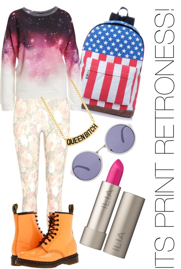 """""""Print Retro"""" by dorothy-turtle on Polyvore"""